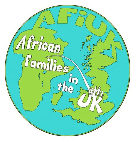 AFIUK African families UK immigration rights security civil liberty logo colour snublic drawing illustration artwork ink black and white topical political social satire satirical commission sketch pen cross hatch